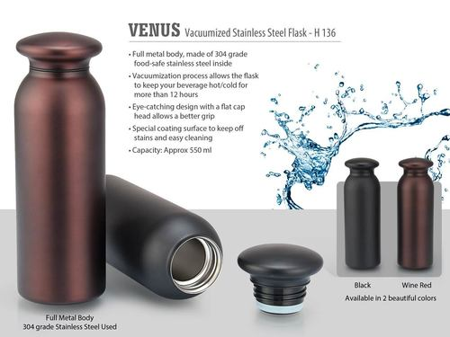 VENUS VACUUMIZED STAINLESS STEEL FLASK (550 ML APPROX)