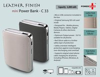 LEATHER FINISH MINI POWER BANK (6,000 MAH)