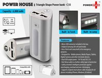 POWER HOUSE : TRIANGLE SHAPE POWER BANK (6000 MAH)