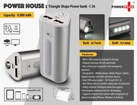 POWER HOUSE : TRIANGLE SHAPE POWER BANK (9000 MAH)