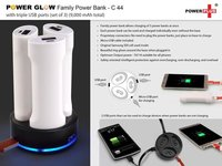POWER GLOW FAMILY POWER BANK WITH TRIPLE USB PORTS (SET OF 3) (9,000 MAH TOTAL)