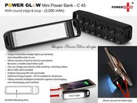 POWERGLOW ROUND EDGE 'MINI' POWER BANK WITH LOOP (3,000 MAH)