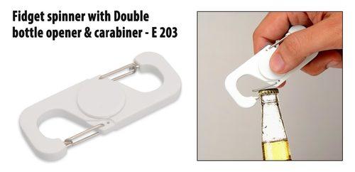 White Double Bottle Opener Spinner