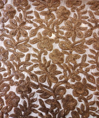 Zari Embroidery Work / Zari Hand Work Embroidery / Embroidery Zari Work Fabric