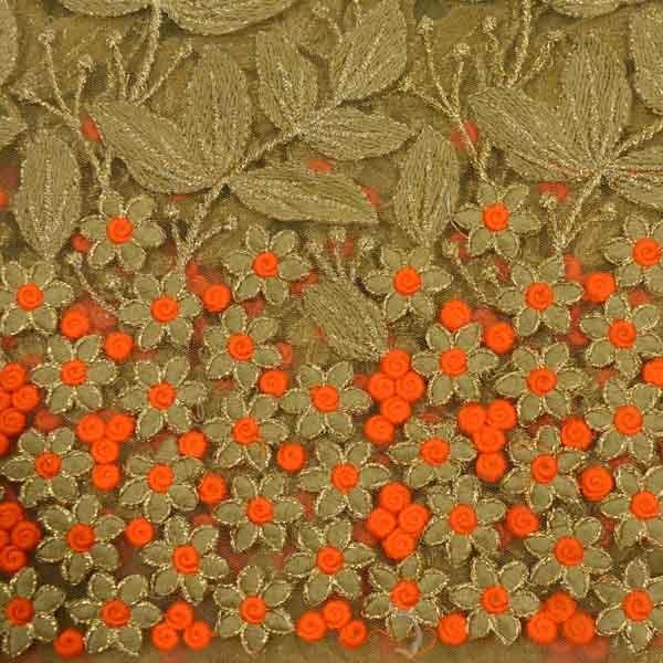 Zari Embroidery Work / Zari Hand Work Embroidery / Embroidery Zari Work Fabric