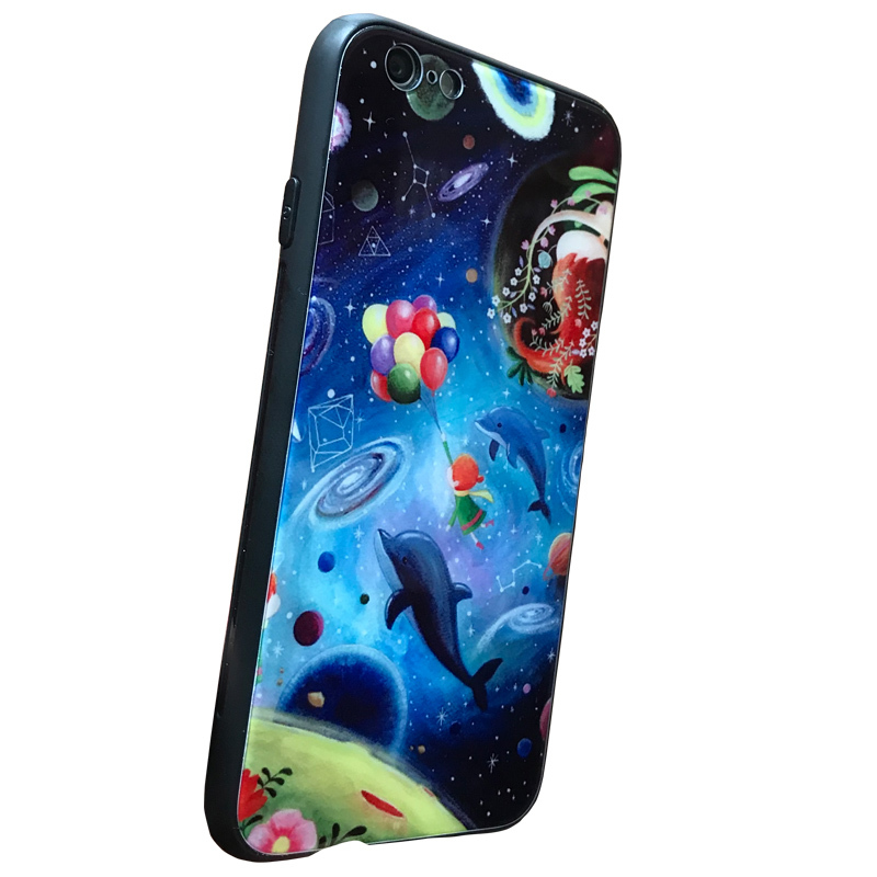 Tempered Glass Printed Mobile Phone Case For Iphone 6s