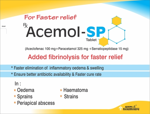 Aceclofenac Paracetamol Tablets 100mg