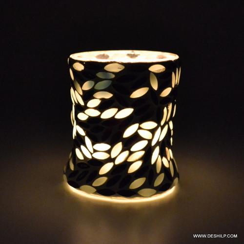 Design Black & Mosaic Candle Holder