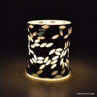 Design Black & Mosaic Candle Holder