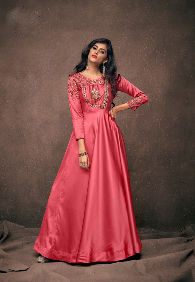 Trendy Readymade Silk Gown