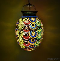 Glass pendant light for home style hanging Lamp