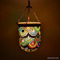 Glass pendant light style hanging lamp