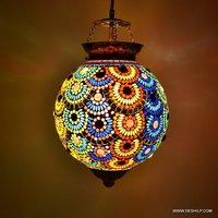 Glass Mosaic Elegant Crystal Chandelier Pendant Light