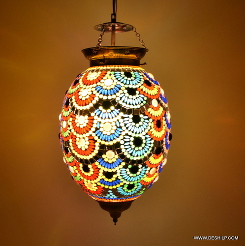 Glass Hanging Lighting Style Vintage Lamp Hanging Ceiling