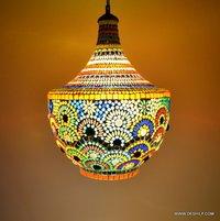 Glass Decoration Vintage Antique Hanging Pendant Diwali Festival