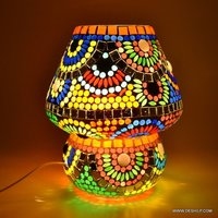 Mosaic table lamp Mosaic Design Decorated Table Lamp Handcrafted