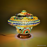 Decorated Table Lamp Handcrafted
