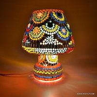 Antique Table Light Mosaic Lamps
