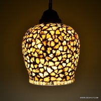 Handcrafted Egg Shaped Seap Designed Glass Hanging Light