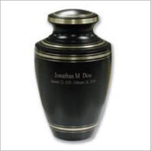 Black Brass Urn