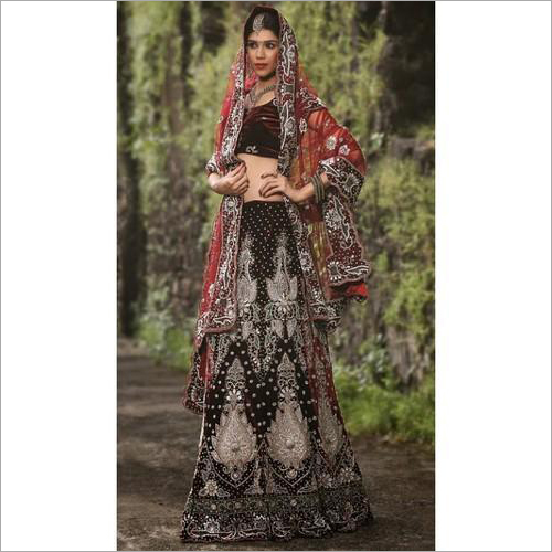 Ladies Swarovski Party Wear Lehenga