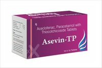 Aceclofenac paracetamol with Thiocolchicoside Tablet