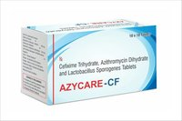Cefixime Trihydrate, Azithromycin Dihydrate lactobacillus Sporogenes Tablets