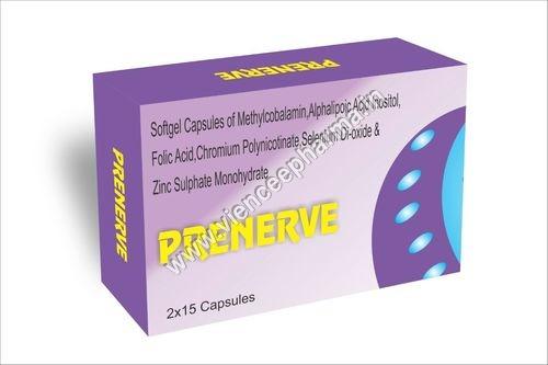 Softgel Capsules Of Methylcobalamin Alphalipoic Acid Insositol