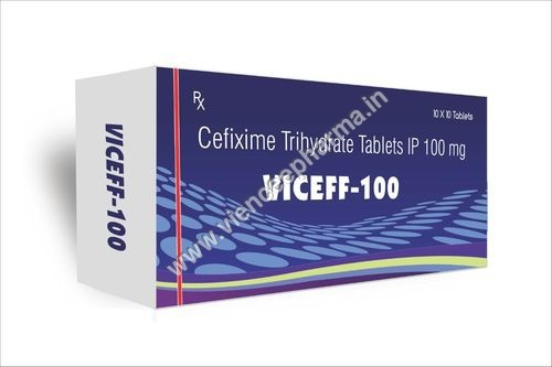 Cefixime Trihydrate Tablets IP 100 mg