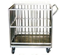 SS Laundry Trolley / Cage Trolley