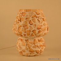 SMALL GLASS MOTHER OF PEARLS TABLE LAMP