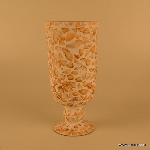 MOTHER OF PEARLS FLOWER VASE