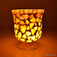 MOTHER OF PULSE GLASS CANDLE HOLDER
