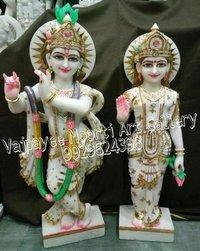 Marble Radhe Krishna Murti