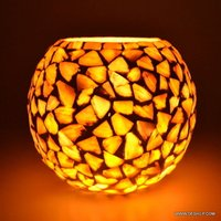 PURSE SHAPE GLASS SEAP TABLE LAMP