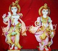 Pure Makrana Marble Radhe Krishna Statue