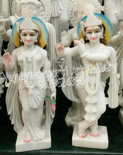 Makrana Marble Krishna Radha Statue