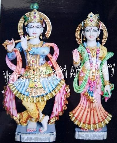 Krishna Radha Marble Moorti