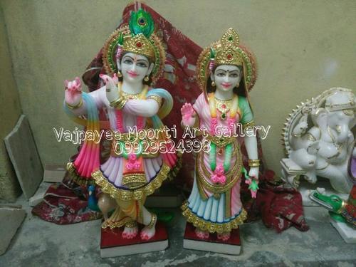 Krishna Radha Marble Murti