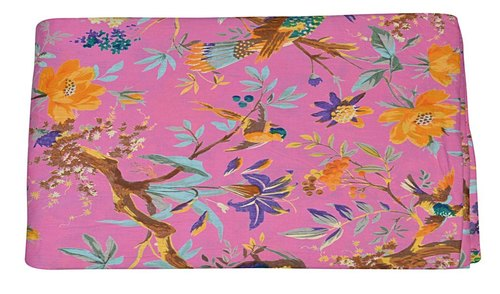 Floral & Bird Printed 100% Cotton Fabric