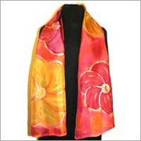 Orange Silk Shawls