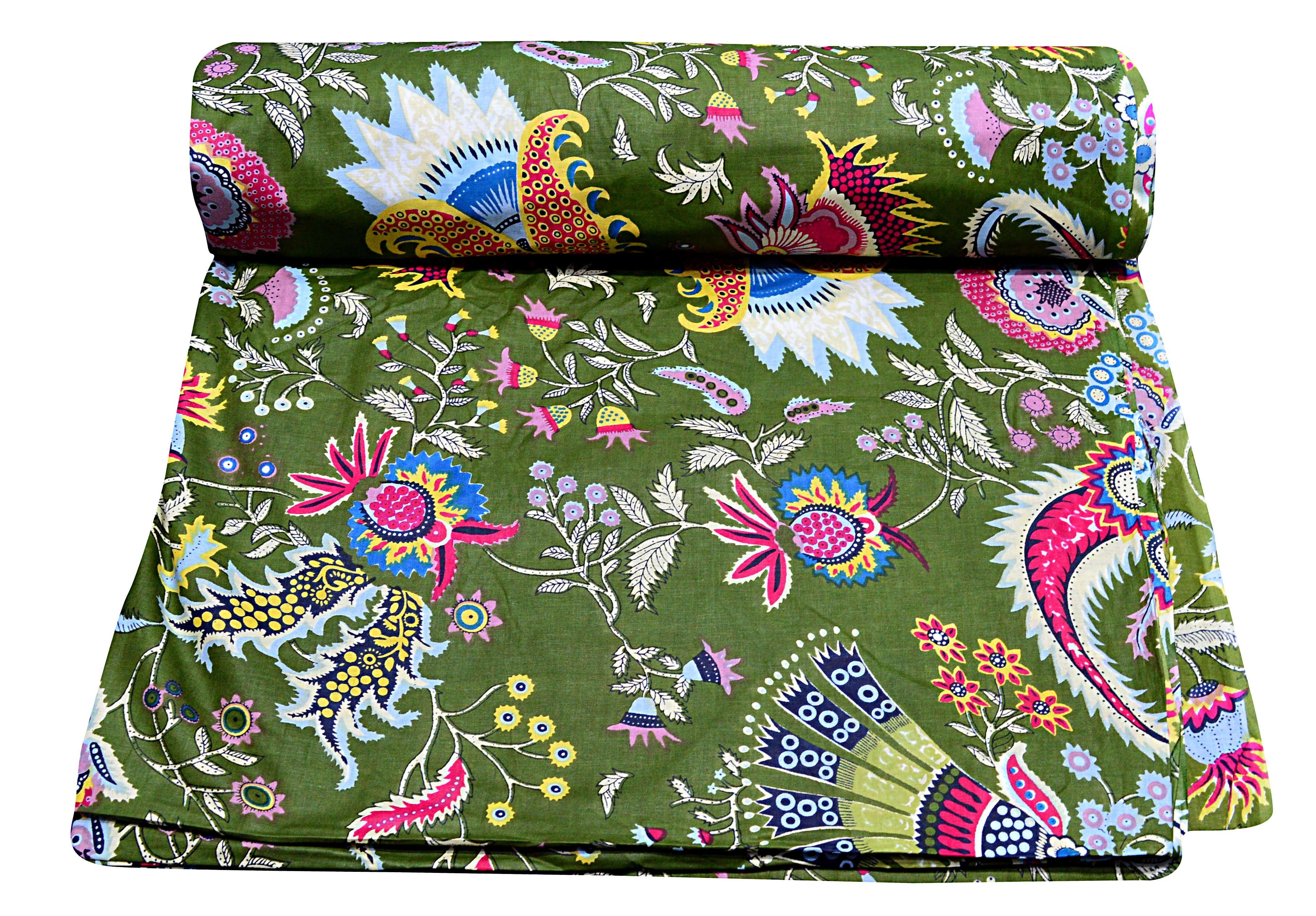 Exclusive Flower Printed 100% Cotton Sewing Material Running Fabric