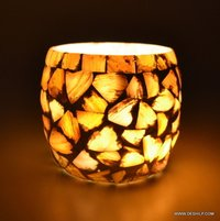 Seap Glass Candle Holder For House Decoration