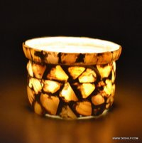 SMALL GLASS T-LIGHT CANDLE VOTIVE
