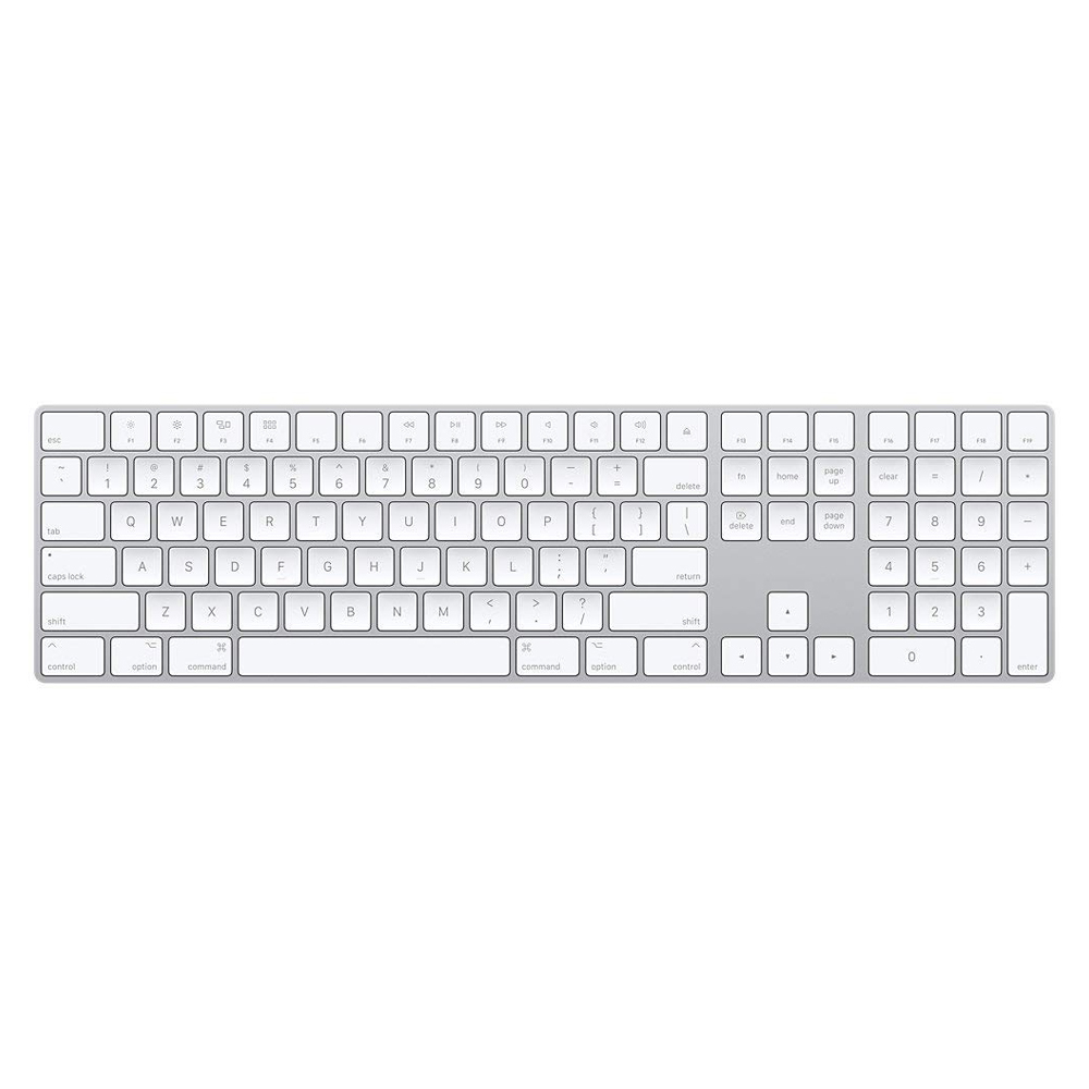 White Apple Magic Keyboard with Numeric Keypad