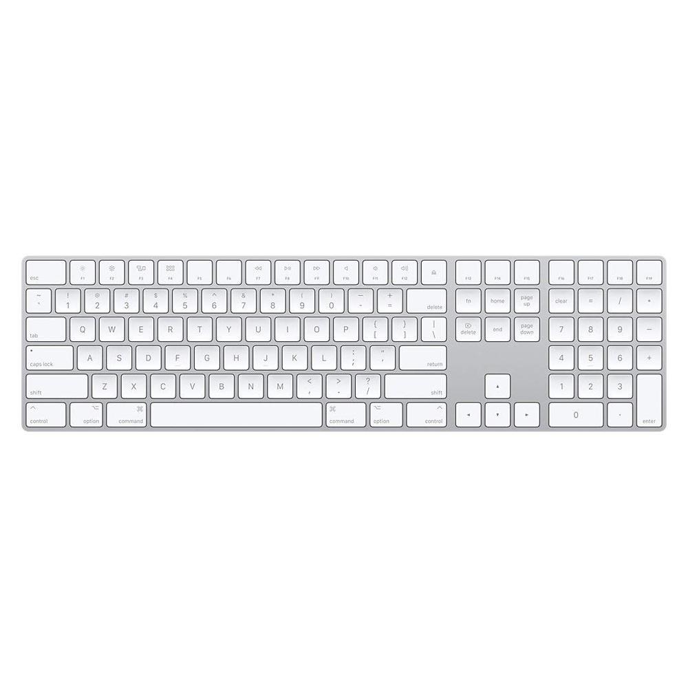 White Apple Magic Keyboard with Numeric Keypad