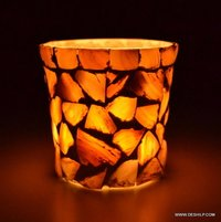 SEAP GLASS T LIGHT CANDLE VOTIVE