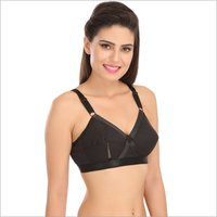 Black Color Full Cup Cotton Bra