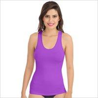 L-Purple Racerback Camisole
