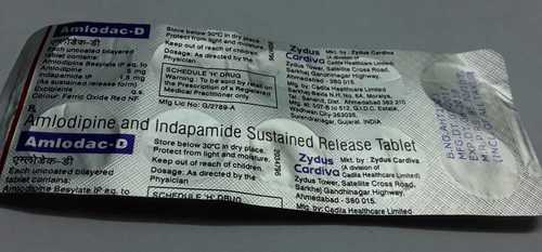 amlodipine indapamide sustained  release tablets